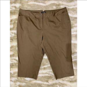 LANE BRYANT Brown Capri Dress Pants